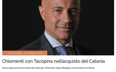 Facci Scibilia e Chiomenti nell'operazione di acquisizione del 100% di Calcio Catania