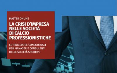 Master online: La crisi d'impresa nelle società di calcio professionistiche